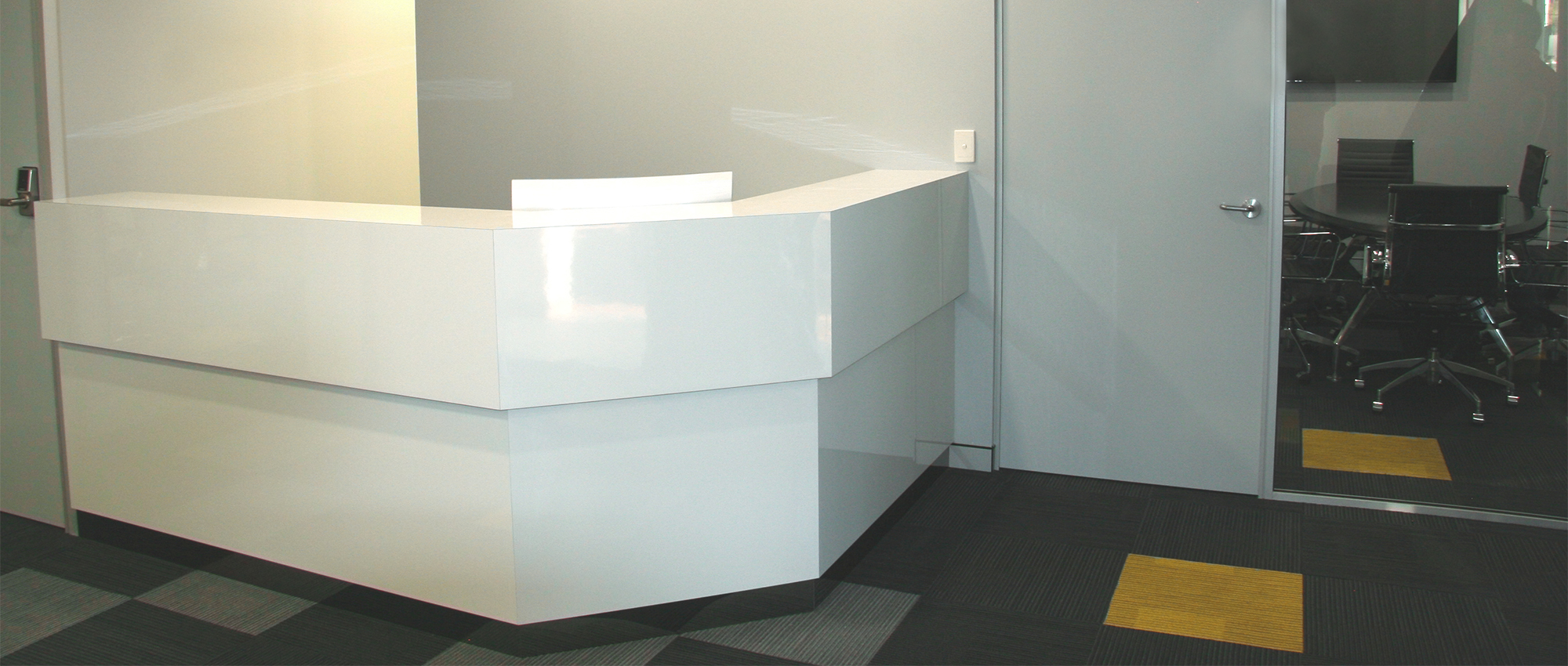 Office Plus Perth Reception Counter Office Furniture Office Office desk Reception Backlight